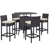 Convene 5 Piece Outdoor Patio Pub Set