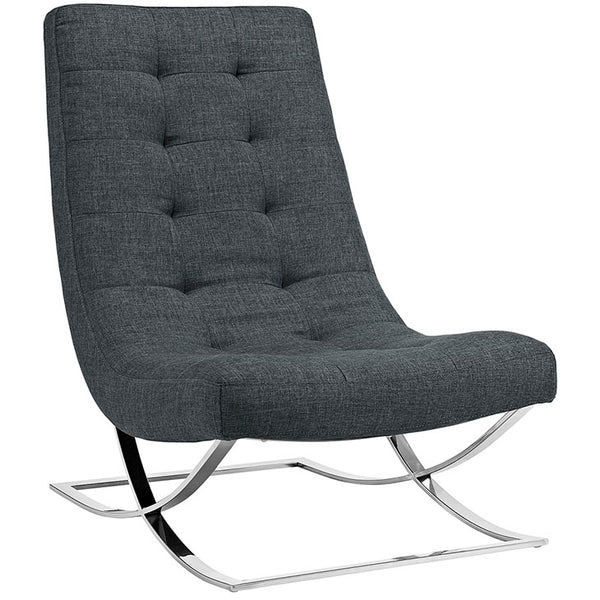 Slope Upholstered Fabric Lounge Chair