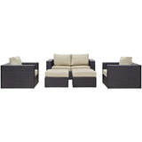 Convene 5 Piece Outdoor Patio Sofa Set