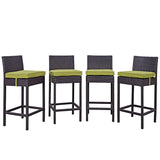 Convene 4 Piece Outdoor Patio Pub Set
