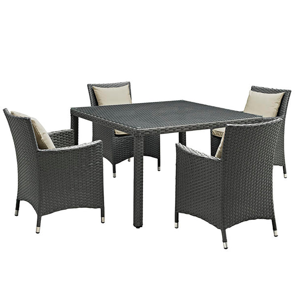 Sojourn 5 Piece Outdoor Patio Sunbrella® Dining Set