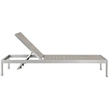 Shore Outdoor Patio Aluminum Rattan Chaise