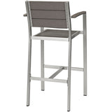 Shore Outdoor Patio Aluminum Bar Stool