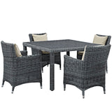 Summon 5 Piece Outdoor Patio Sunbrella® Dining Set