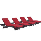 Convene Chaise Outdoor Patio Set of 4