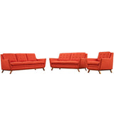 Beguile Living Room Set Upholstered Fabric Set of 3