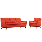 Beguile Living Room Set Upholstered Fabric Set of 2