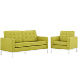 Loft Living Room Set Upholstered Fabric Set of 2