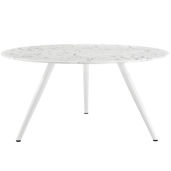 "Lippa 60"" Round Artificial Marble Dining Table with Tripod Base"