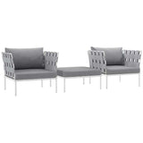 Harmony 3 Piece Outdoor Patio Aluminum Set