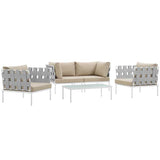 Harmony 5  Piece Outdoor Patio Aluminum Sectional Sofa Set
