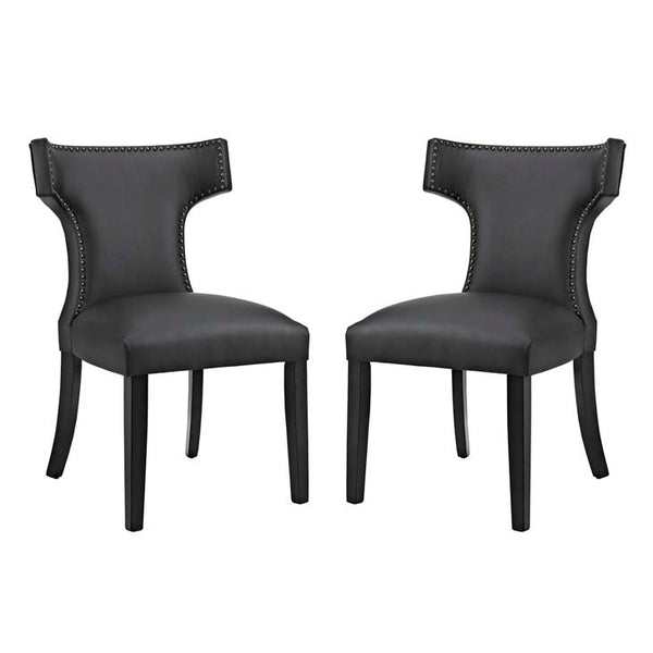 Curve Set of 2 Vinyl Dining Side Chair