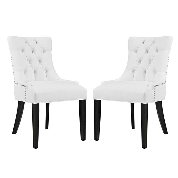 Regent Set of 2 Vinyl Dining Side Chair