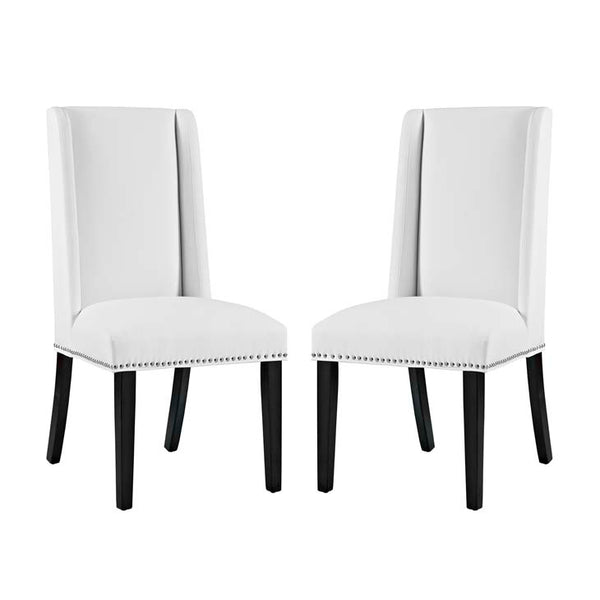 Baron Set of 2 Vinyl Dining Chair