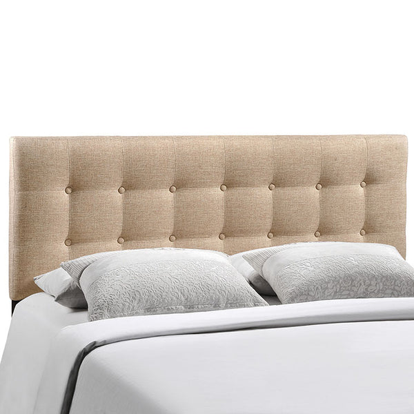 Emily King Upholstered Fabric Headboard