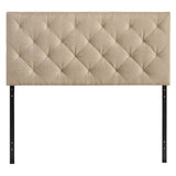 Theodore King Upholstered Fabric Headboard
