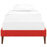 Sharon Twin Fabric Bed Frame with Squared Tapered Legs
