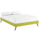 Helen King Fabric Bed Frame with Round Splayed Legs