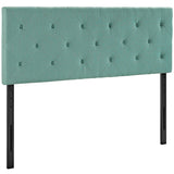 Terisa King Upholstered Fabric Headboard