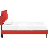 Laura Twin Fabric Platform Bed with Squared Tapered Legs