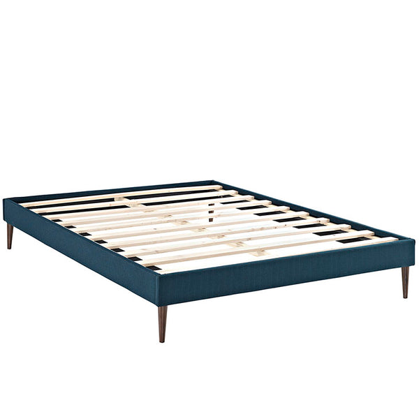 Sherry King Fabric Bed Frame with Round Tapered Legs