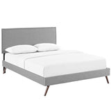 Camille Full Fabric Platform Bed with Round Splayed Legs