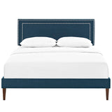 Jessamine Queen Fabric Platform Bed with Squared Tapered Legs