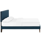 Phoebe Full Fabric Platform Bed with Squared Tapered Legs