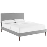 Phoebe Full Fabric Platform Bed with Round Tapered Legs
