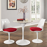 tulip round table replica - white