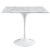 tulip marble dining table - white