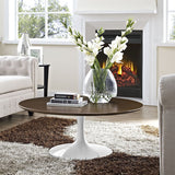 tulip round coffee table - white artificial marble