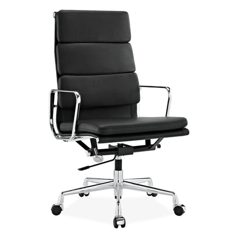 Eames Aluminum SoftPad Executive Chair Replica Black Color