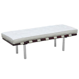 Barcelona 2 bench seater replica - white color