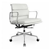 Eames Aluminum Group Style Softpad Management Chair Replica White Color