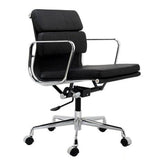 Eames Aluminum Group Style Softpad Management Chair Replica Black Color