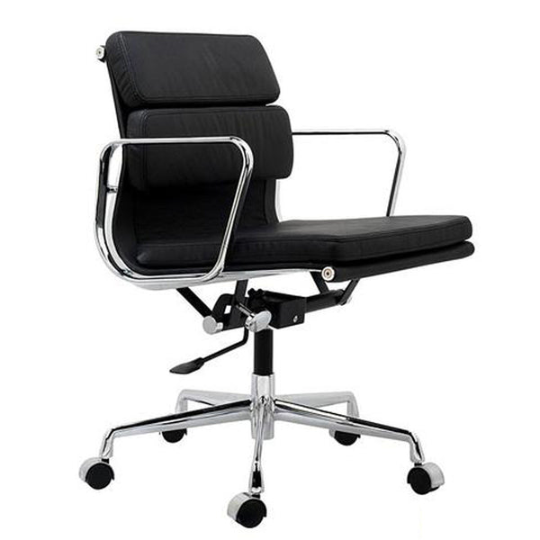 Eames aluminium group style management chair eames padded for Eames alu chair replica