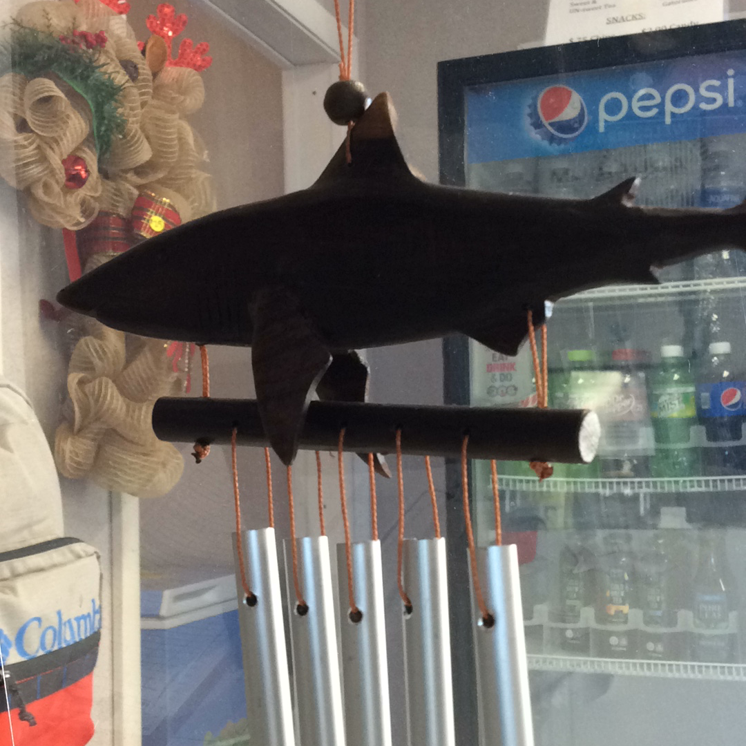 Wooden Shark Wind Chimes