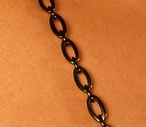 Black Oval Jewel Straps