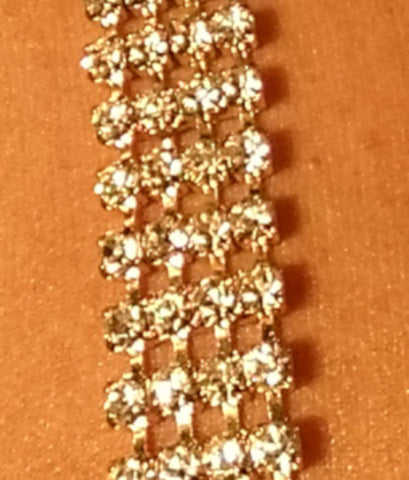 Clear Rhinestone Jewel Straps (Gold Setting)