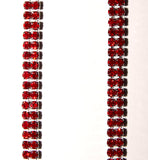 Burgundy Double Strand Jewel Straps