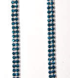 Blue Double Strand Jewel Straps