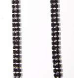 Black Double Strand Jewel Straps