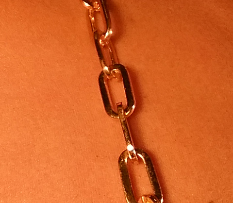 Gold Elongated Cable Jewel Straps