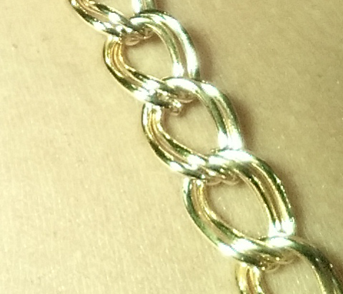 Gold Double Cable Chain Jewel Straps