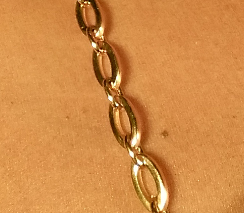 Gold Oval Jewel Straps