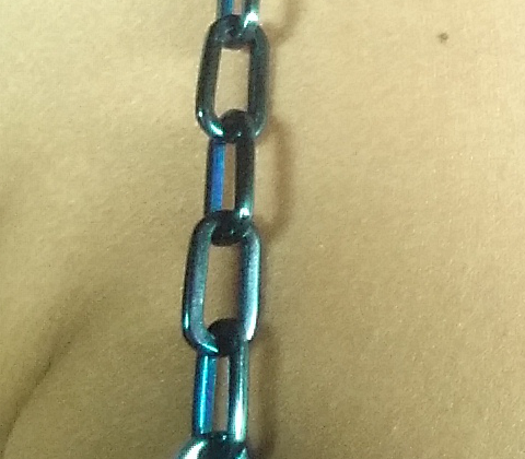 Blue Elongated Cable Jewel Straps
