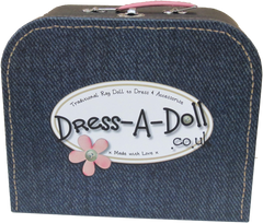 rag doll in a suitcase choose her clothes your self, bespoke, create your own rag doll, customise your doll