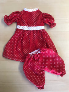 Clothing - Red & white polka dot dress and bloomers set 2