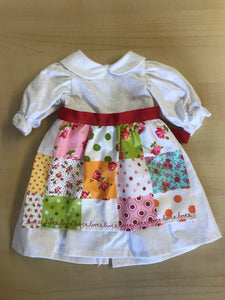 Clothing - white dress with Patchwork pinny